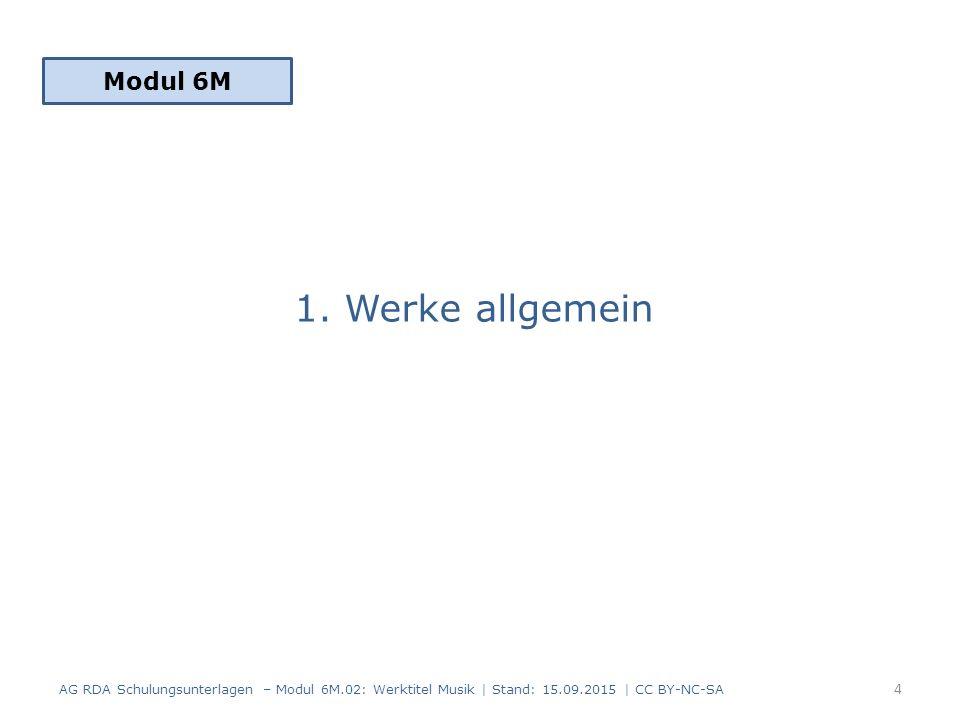 1. Werke allgemein Modul 6M