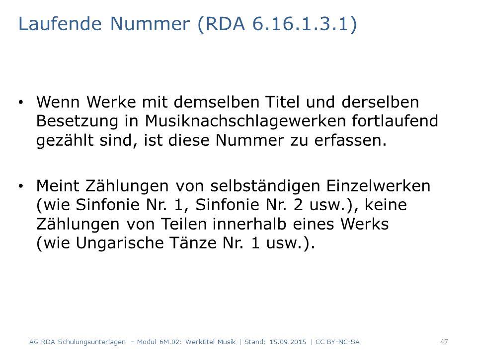 Laufende Nummer (RDA 6.16.1.3.1)