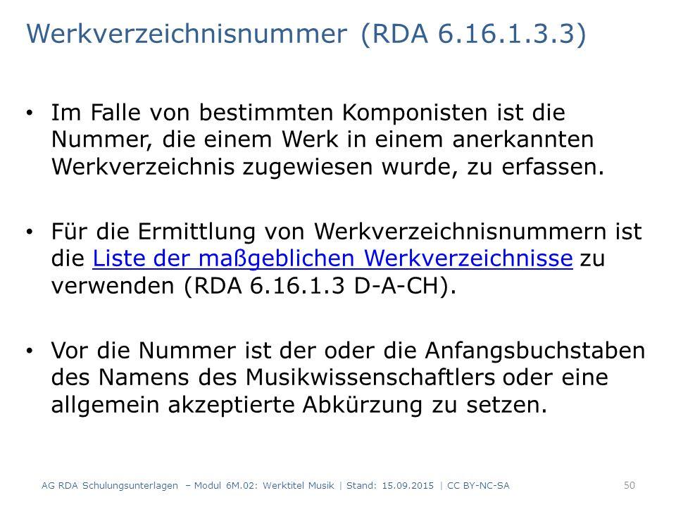 Werkverzeichnisnummer (RDA 6.16.1.3.3)
