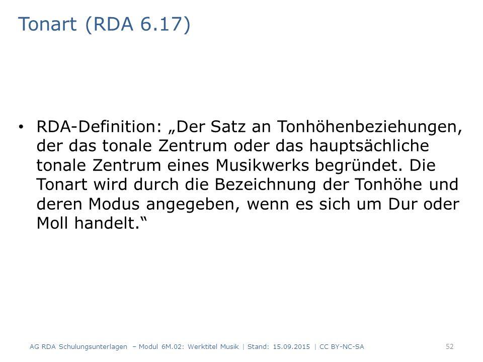 Tonart (RDA 6.17)
