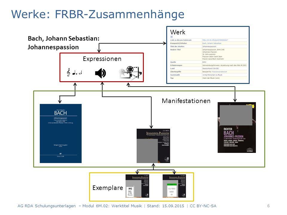Werke: FRBR-Zusammenhänge