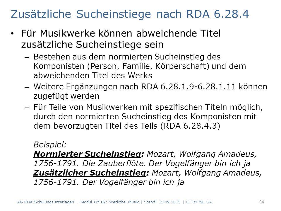 Zusätzliche Sucheinstiege nach RDA 6.28.4