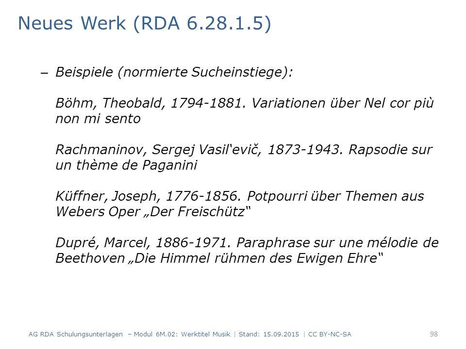 Neues Werk (RDA 6.28.1.5)