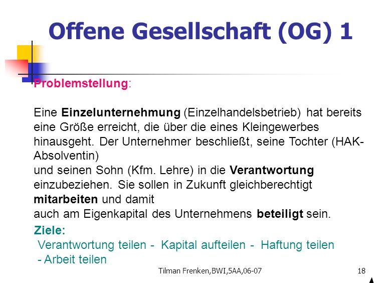 Offene Gesellschaft (OG) 1