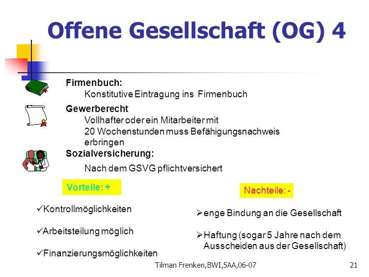 Offene Gesellschaft (OG) 4