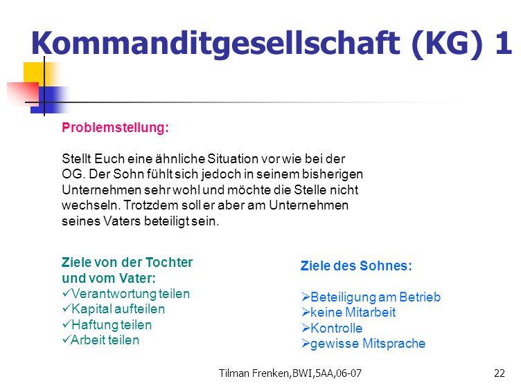 Kommanditgesellschaft (KG) 1