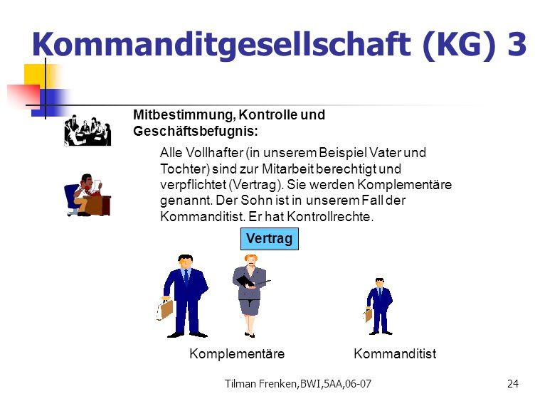 Kommanditgesellschaft (KG) 3