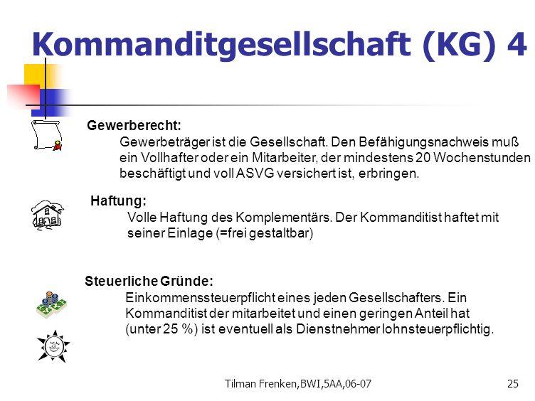 Kommanditgesellschaft (KG) 4