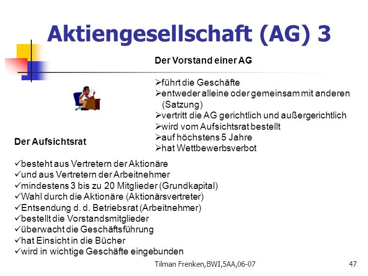 Aktiengesellschaft (AG) 3