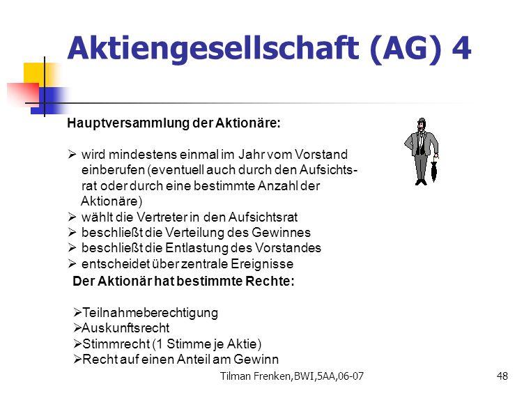 Aktiengesellschaft (AG) 4