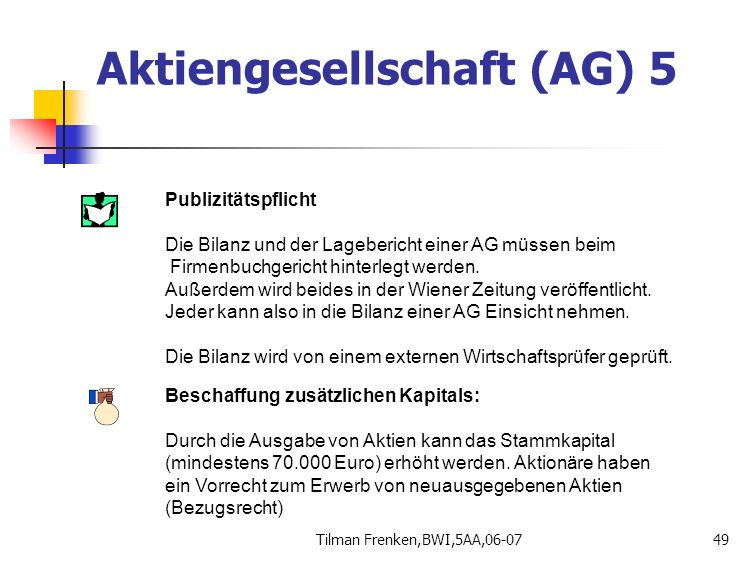 Aktiengesellschaft (AG) 5