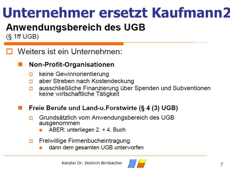 Unternehmer ersetzt Kaufmann2