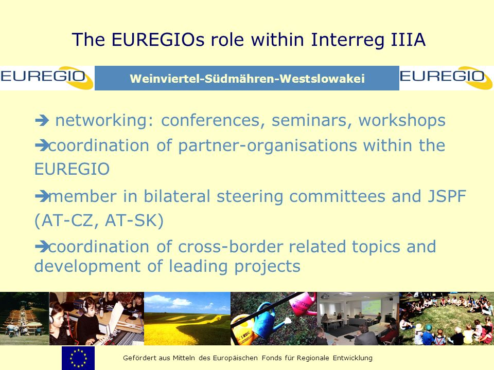 The EUREGIOs role within Interreg IIIA