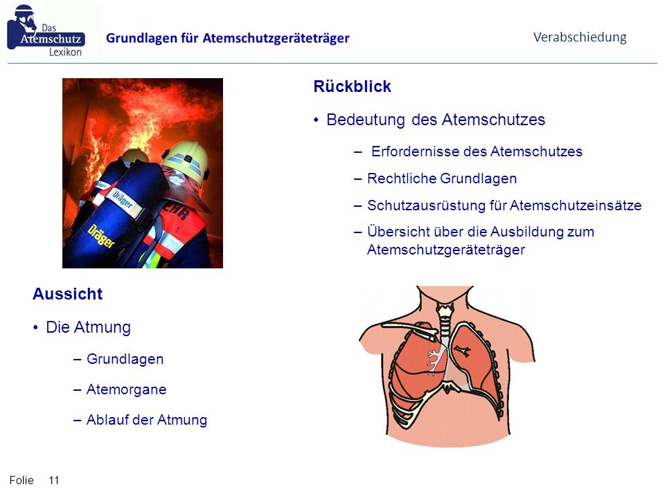 Bedeutung des Atemschutzes