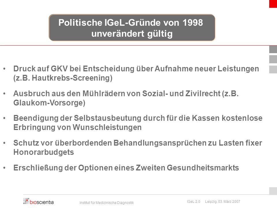 Politische IGeL-Gründe von 1998