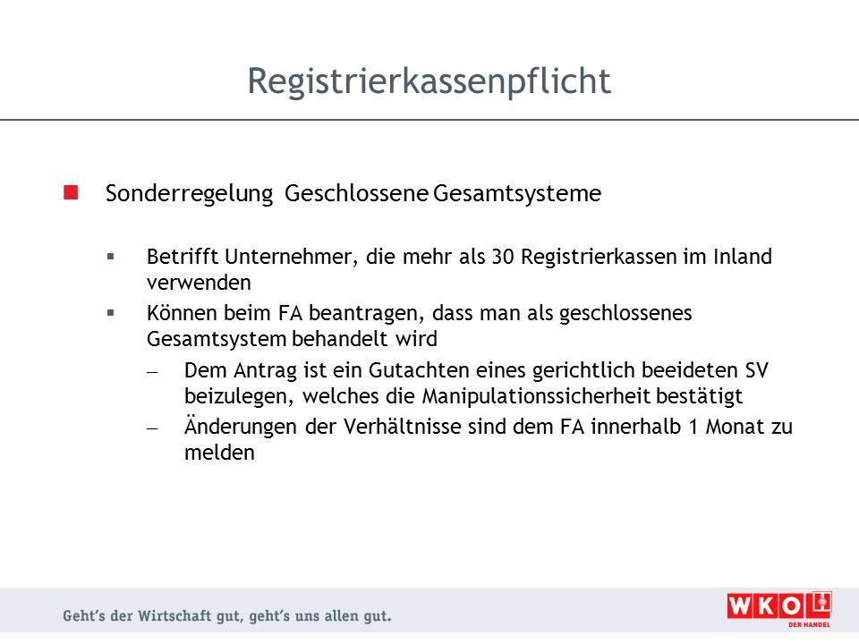 Registrierkassenpflicht
