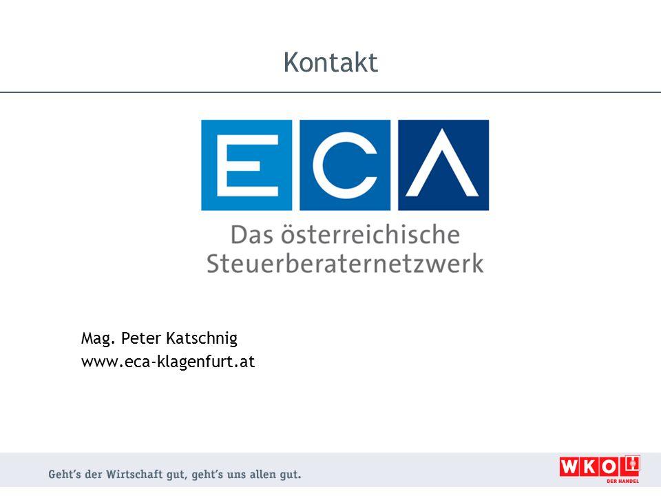 Kontakt Mag. Peter Katschnig www.eca-klagenfurt.at