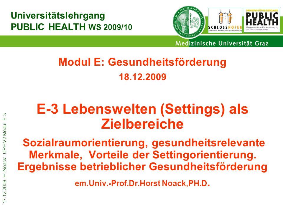 E-3 Lebenswelten (Settings) als Zielbereiche