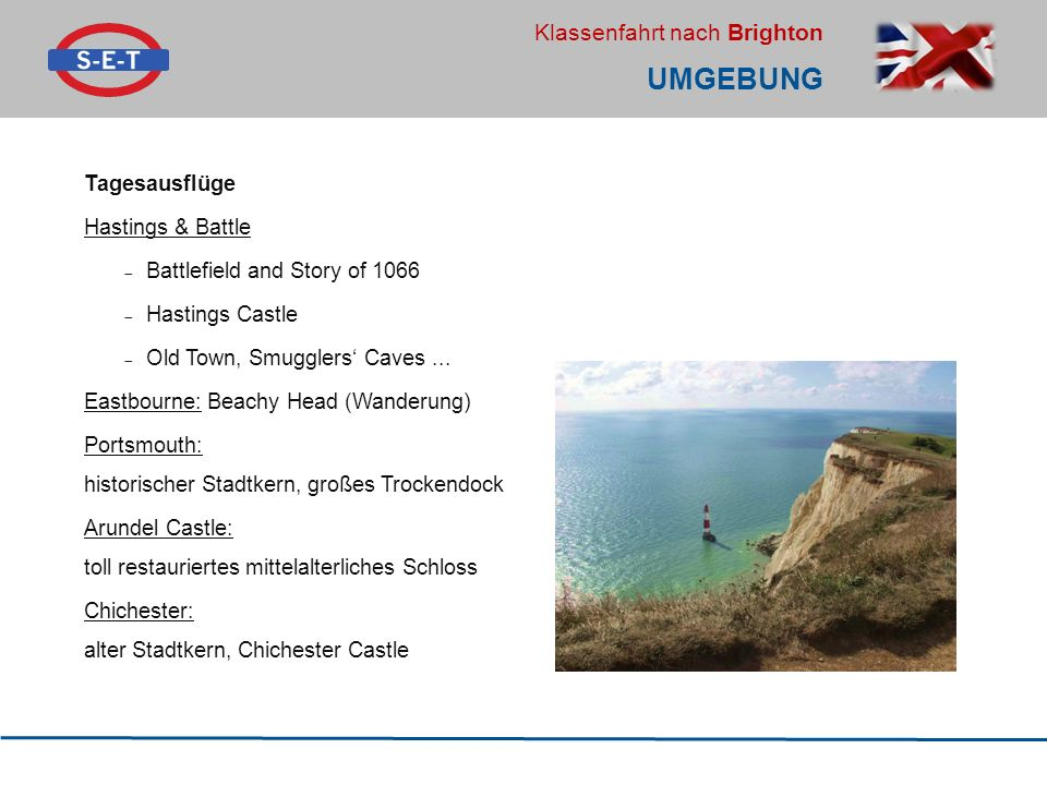 Umgebung Tagesausflüge Hastings & Battle Battlefield and Story of 1066