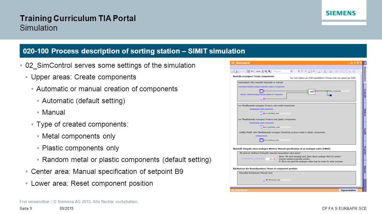Training Curriculum TIA Portal Simulation