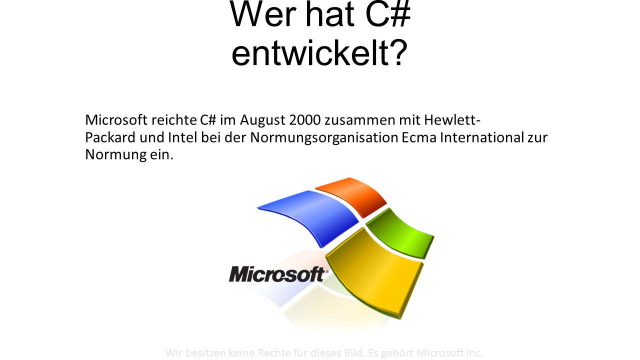 Wir besitzen keine Rechte für dieses Bild. Es gehört Microsoft Inc.