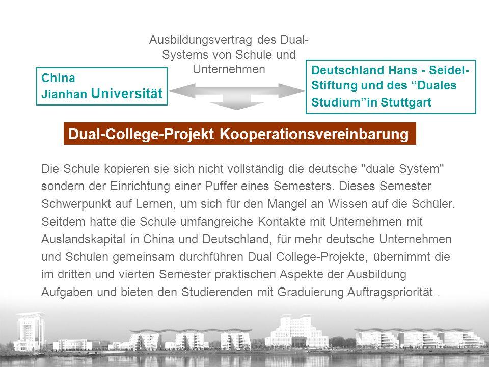 Ausbildungsvertrag des Dual-Systems von Schule und Unternehmen