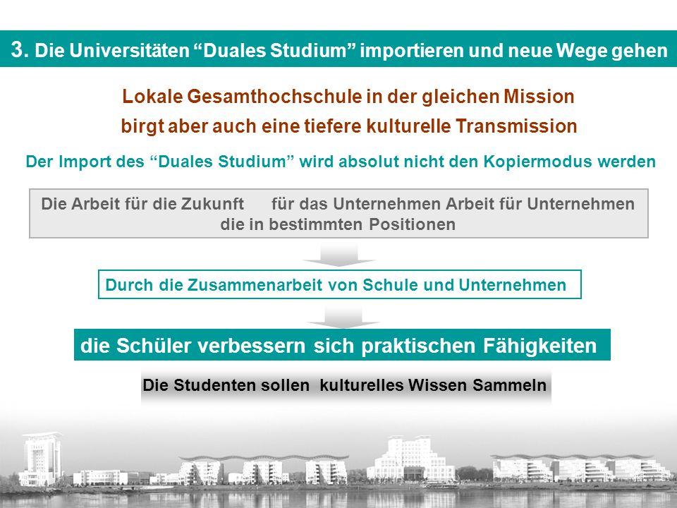 3. Die Universitäten Duales Studium importieren und neue Wege gehen