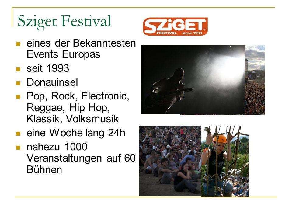 Sziget Festival eines der Bekanntesten Events Europas seit 1993
