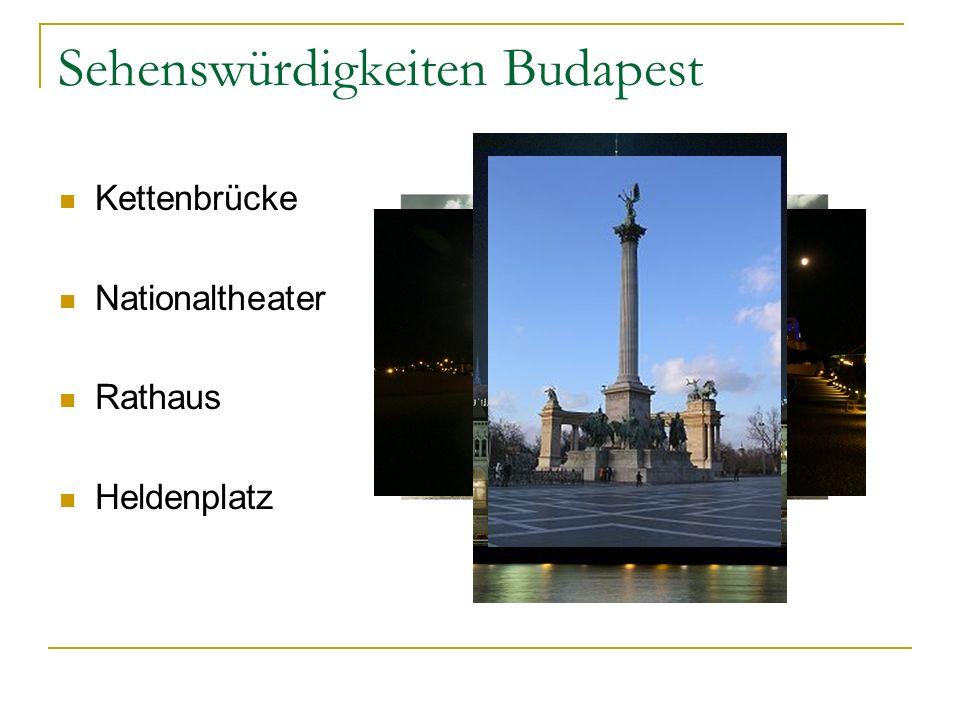 Sehenswürdigkeiten Budapest