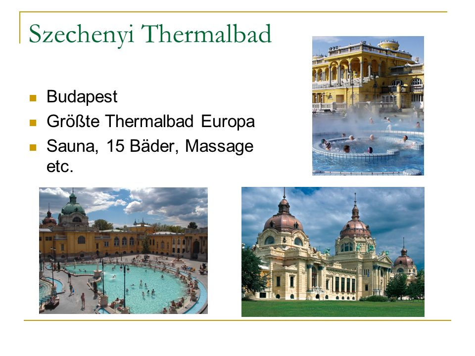 Szechenyi Thermalbad Budapest Größte Thermalbad Europa