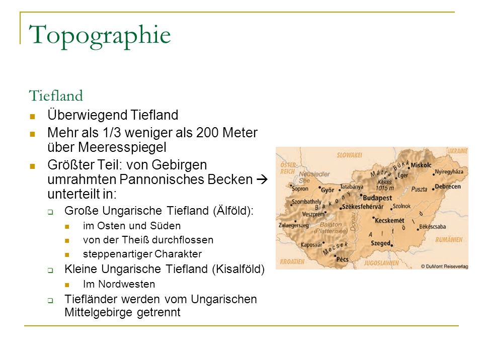 Topographie Tiefland Überwiegend Tiefland