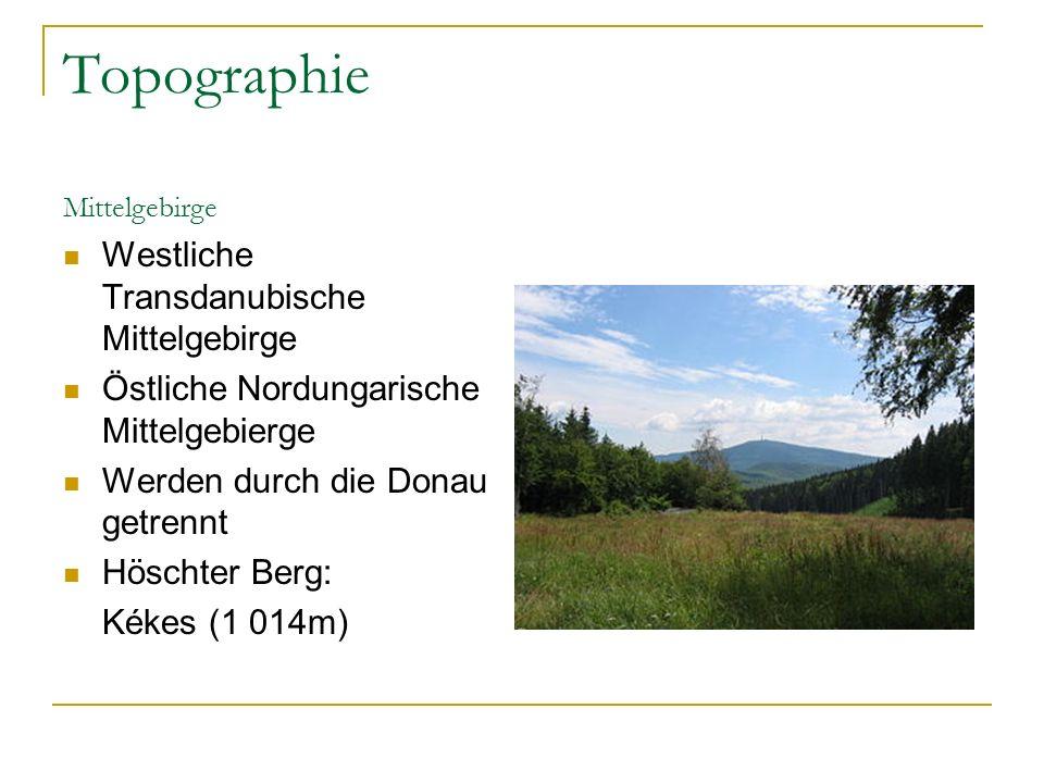 Topographie Westliche Transdanubische Mittelgebirge