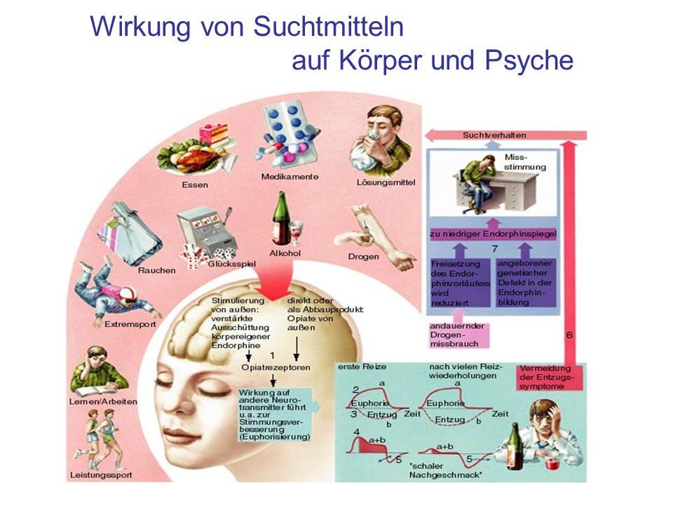 Wirkung von Suchtmitteln auf Körper und Psyche
