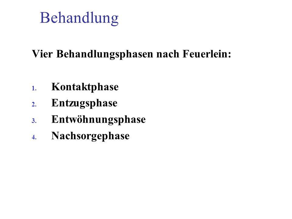 Behandlung Vier Behandlungsphasen nach Feuerlein: Kontaktphase