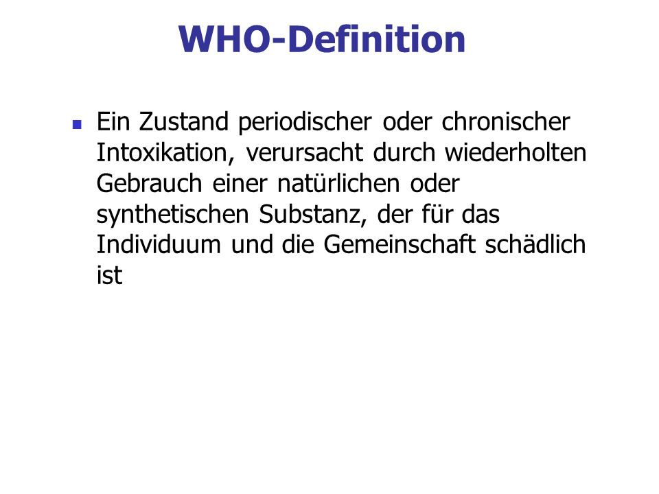 WHO-Definition