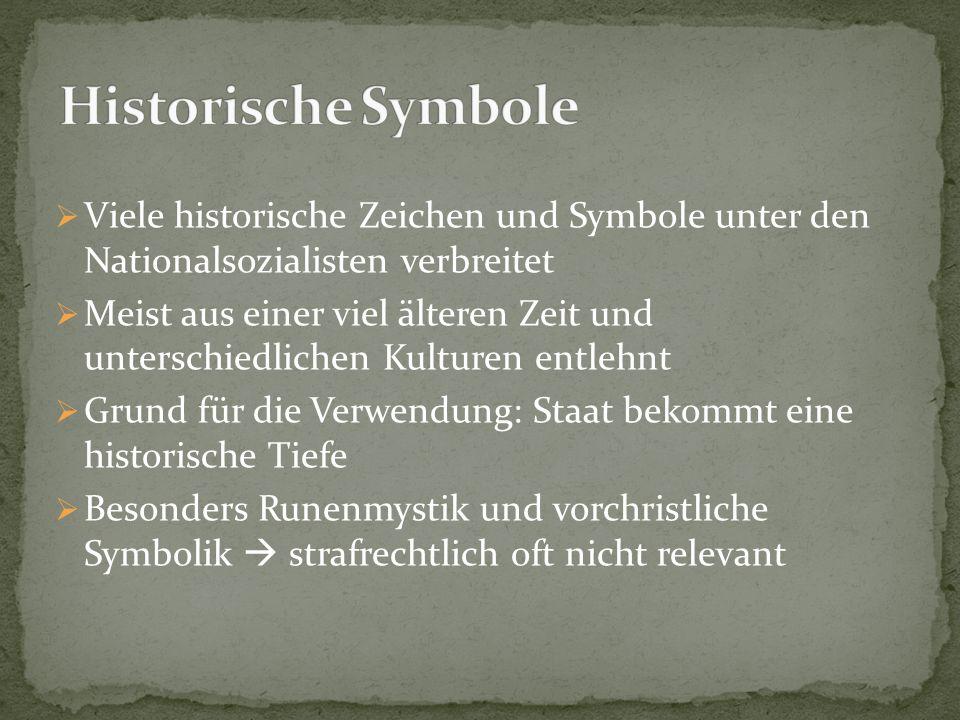 Historische Symbole Viele historische Zeichen und Symbole unter den Nationalsozialisten verbreitet.