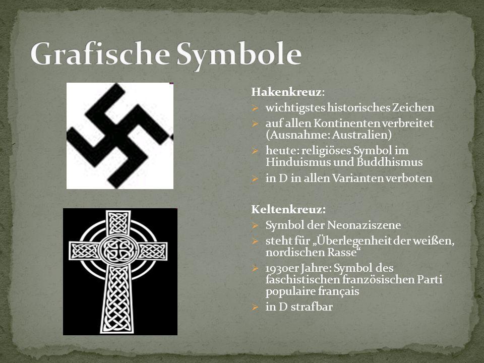 Grafische Symbole Hakenkreuz: wichtigstes historisches Zeichen