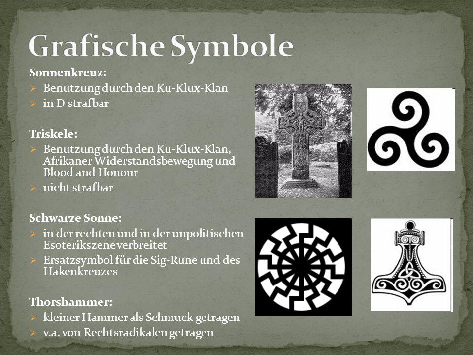Grafische Symbole Sonnenkreuz: Benutzung durch den Ku-Klux-Klan