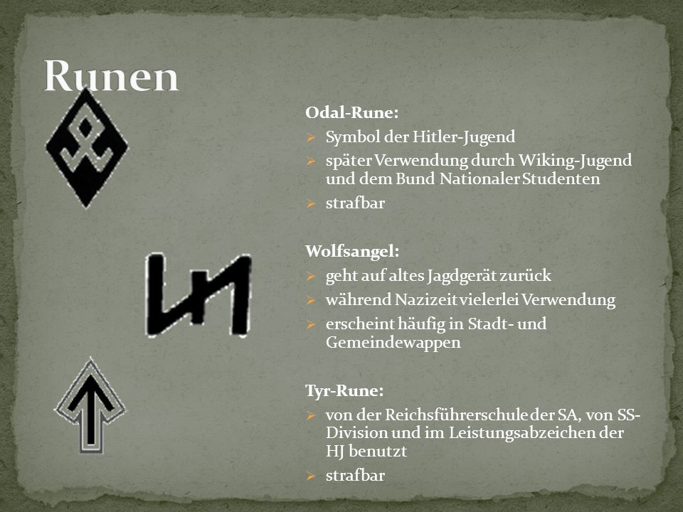 Runen Odal-Rune: Symbol der Hitler-Jugend