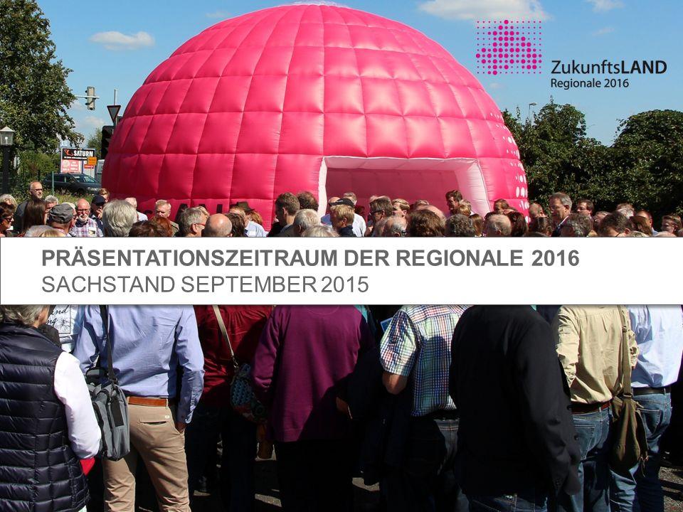 Präsentationszeitraum der Regionale 2016