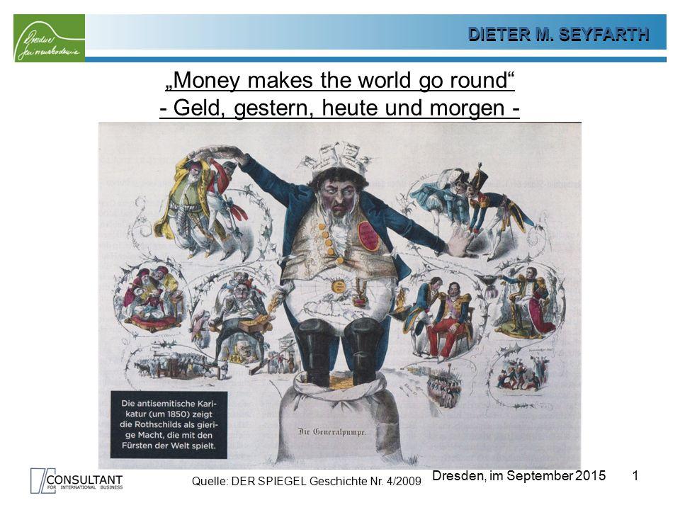 """""""Money makes the world go round - Geld, gestern, heute und morgen -"""