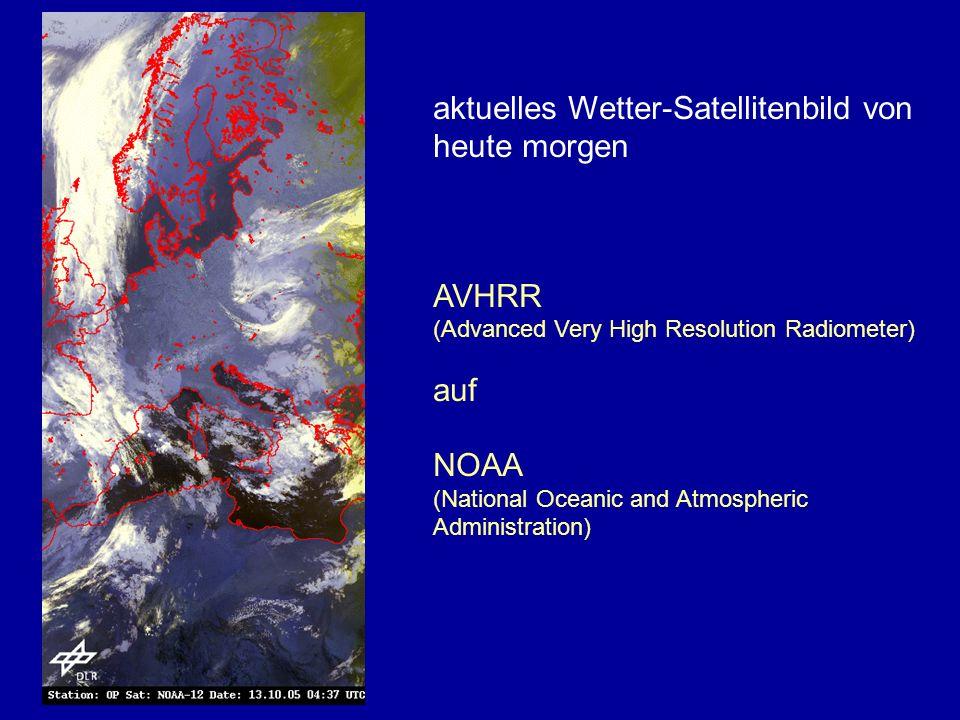 aktuelles Wetter-Satellitenbild von heute morgen