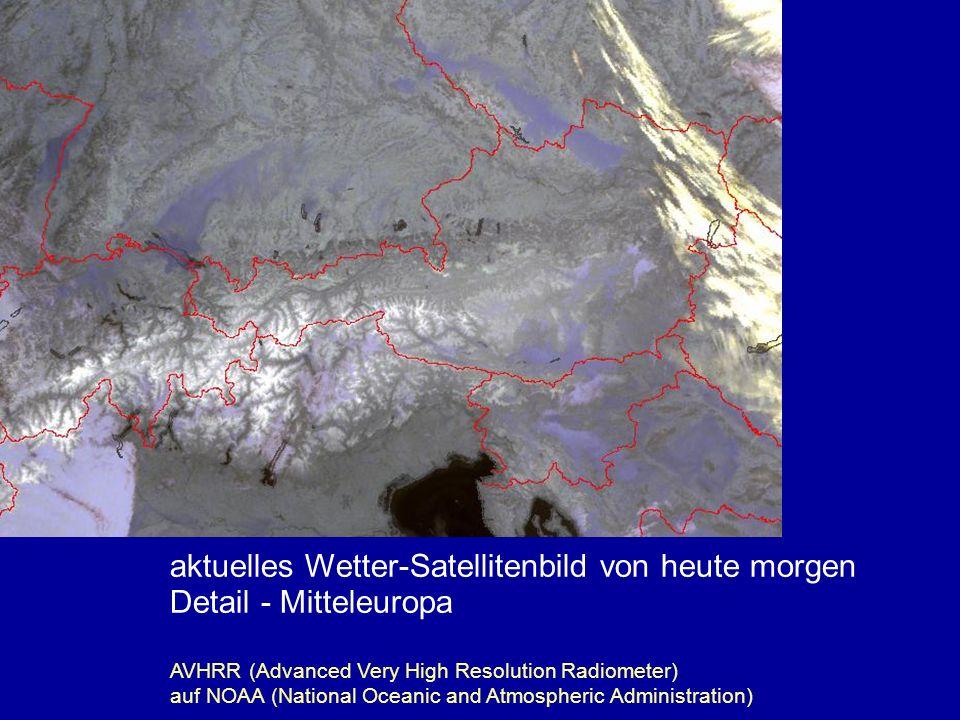 aktuelles Wetter-Satellitenbild von heute morgen Detail - Mitteleuropa