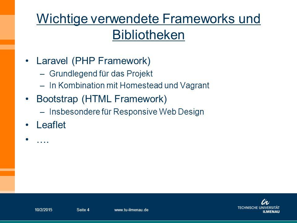 Wichtige verwendete Frameworks und Bibliotheken