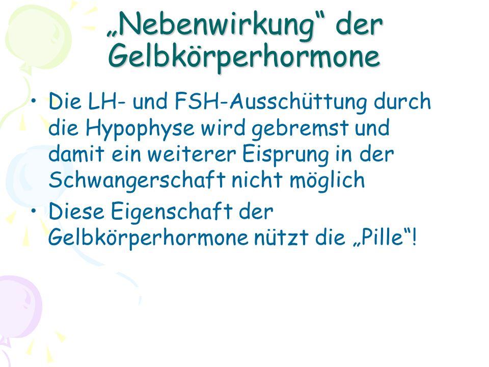 """""""Nebenwirkung der Gelbkörperhormone"""