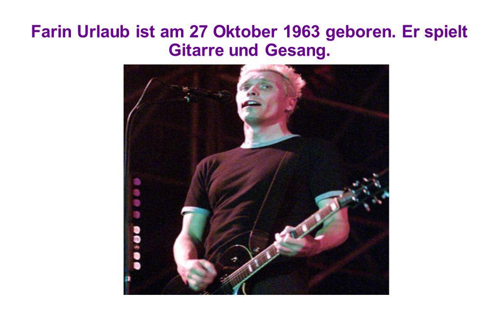 Farin Urlaub ist am 27 Oktober 1963 geboren