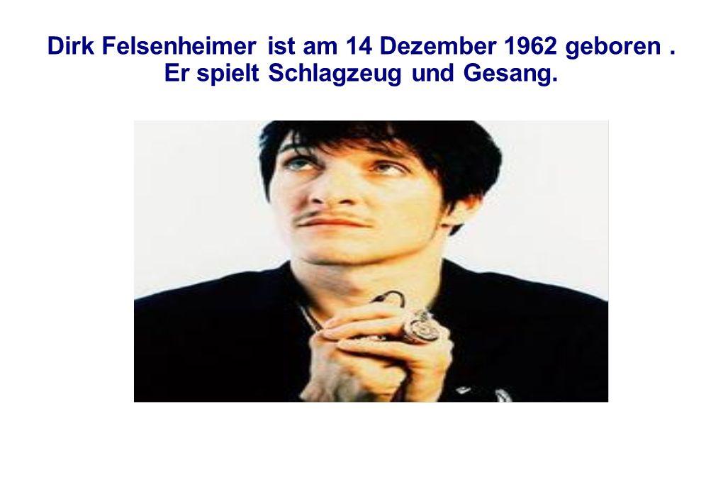 Dirk Felsenheimer ist am 14 Dezember 1962 geboren
