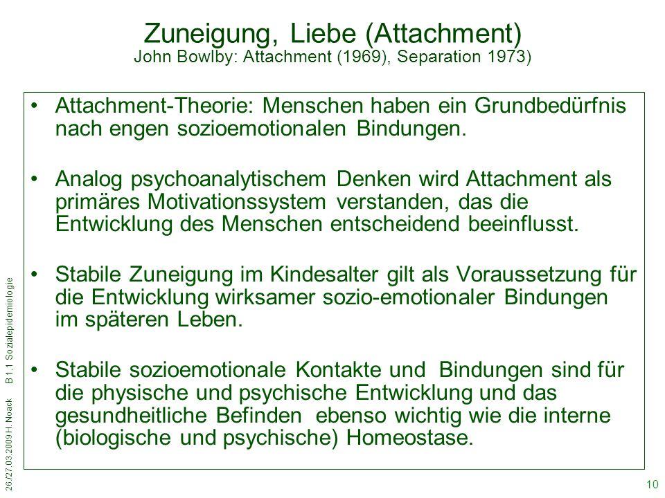 Zuneigung, Liebe (Attachment) John Bowlby: Attachment (1969), Separation 1973)