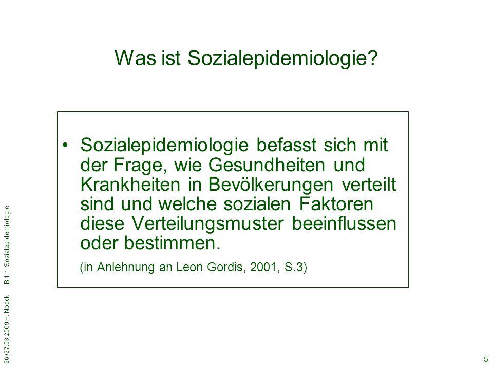 Was ist Sozialepidemiologie