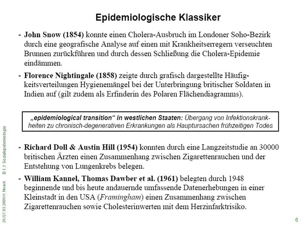 B 1.1 Sozialepidemiologie